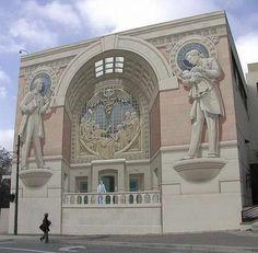 peinture murale trompe l'oeil