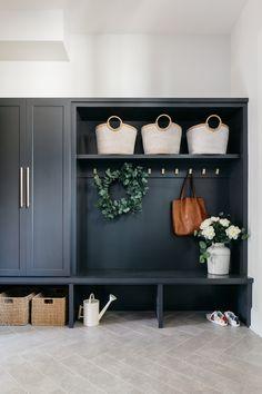 Mudroom Cabinets, Mudroom Laundry Room, Small Laundry Rooms, Laundry Room Design, Estudio Mcgee, Hallway Ideas Entrance Narrow, Modern Hallway, Halls, Entryway Decor