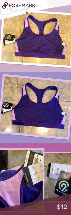 3850d0d83c078 NWT Champion brand purple workout sports bra top L Brand new with tags  super cute purple