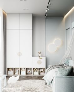 Bedroom Design Ideas For Kids Kids Bedroom Designs, Baby Room Design, Baby Room Decor, Apartment Interior, Room Interior, Chambre Nolan, Suites, Küchen Design, Design Ideas
