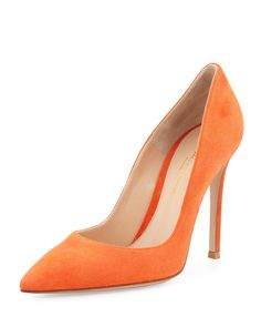 f8c6bb6be3a Gianvito Rossi Suede Pointed-Toe 105mm Pump