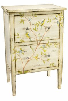 Elvira Accent Table - could paint the wash stand like this