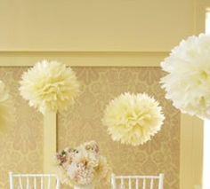 "15pcs - 4"" 8"" 12"" Mixed 3-sizes Ivory / Light Yellow Tissue Paper Pom-poms Pompom Flower Wedding Party Home Indoor. 15pcs - 4"" 8"" 12"" Mixed 3-sizes Ivory / Light Yellow Tissue Paper Pom-poms Pompom Flower Wedding Party Home Indoor on Tradesy Weddings (formerly Recycled Bride), the world's largest wedding marketplace. Price $19.99...Could You Get it For Less? Click Now to Find Out!"