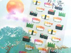 sushi sticker Sashimi Japanese sushi roll egg by StickersKingdom