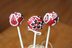 Paisley Bandana Cake Pops | Flickr - Photo Sharing!  western themed party, cowboy cake pops, bandana print