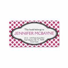 ==> reviews          	Personalized Feminine Pink Polkadots Bookplate Custom Address Label           	Personalized Feminine Pink Polkadots Bookplate Custom Address Label we are given they also recommend where is the best to buyThis Deals          	Personalized Feminine Pink Polkadots Bookplate ...Cleck Hot Deals >>> http://www.zazzle.com/personalized_feminine_pink_polkadots_bookplate_label-106075513802703825?rf=238627982471231924&zbar=1&tc=terrest