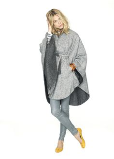 Cozy soft (reversible) cape by Hatch.