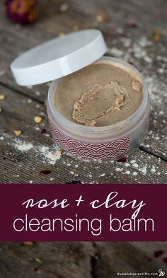 Rose and Clay Cleansing Balm Exfoliating Peel, Oil Based Cleanser, Rose Clay, Homemade Soap Recipes, Make Up Remover, Fractionated Coconut Oil, Cleansing Oil, Homemade Beauty Products, Diy Skin Care