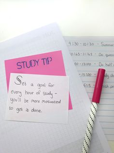 Set a goal for every hour of study! Visit Highschoolhints.com for more study tips! #studytips