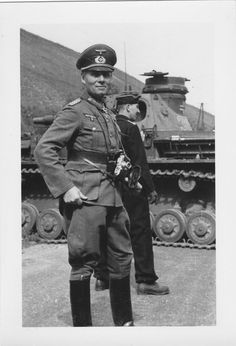 A snapshot of then General (later Field Marshal) Erwin Rommel with his Leica Model III, somewhere in France in the summer of 1940.