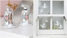 bells and birds and white windowframe
