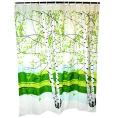 Marimekko Kaiku Shower Curtain | Marimekko Birch Trees Forest Shower Curtain Design