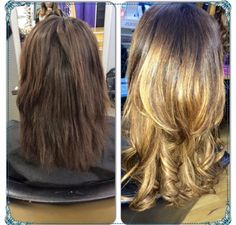 #brown #blonde #ombre #natural #hair #colour #wella #nice #change #liverpool #hairdressing # long #colourexpert #salon #voodou #voodouliverpool