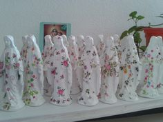 Nossa Senhora das Graças mini em Gesso com Decoupagem alt10 x 4,5 cm , porcelanato p/lembrança lembrancinha casamento noivado batizado aniversário festas