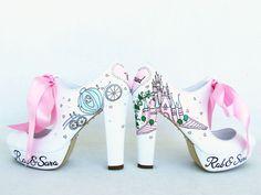 Sindirella Düğünü El Boyama Gelin Ayakkabısı  Zet.com'da 295 TL