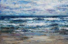 Jonathan Shearer | Breakers On Embo Beach | Oil on canvas | http://www.artistics.com/en/art/jonathan_shearer/breakers-embo-beach