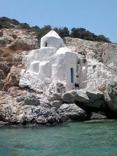 Greece, Agios Sozon Chapel on Naxos island, Cyclades Santorini, Places To Travel, Places To See, Places Around The World, Around The Worlds, Beautiful World, Beautiful Places, Myconos, Greek Isles