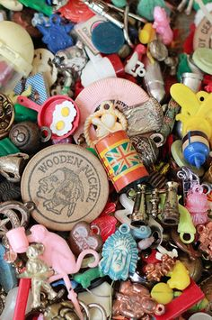 VIntage Charms and Cracker Jack toys