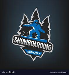 Snowboarding winter sports logo emblem vector image on VectorStock Logo Emblem, Sports Logo, Dark Backgrounds, Winter Sports, Snowboarding, Vector Free, Royalty, Illustration, Sticker