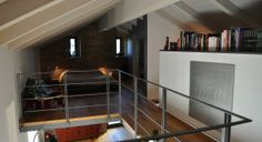 Il portico del 1800 diventa un loft 'minimal'