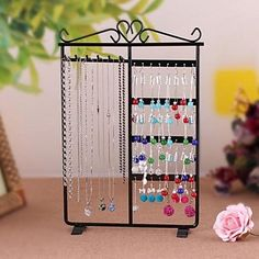Keep your jewelry collection organized with this awesome rack! Like it? Click to get it for $9.99!!
