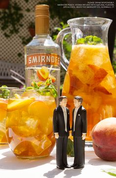 EQUALITEA PUNCH is a delicious way to celebrate Pride. It's easy at weddings, and summer parties. Ingredients: 1.5 Cups Smirnoff Peach, 3 Cups Iced Tea, Sliced Peaches, Mint Leaves, Serves 8
