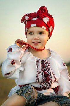A young Ukrainian girl Ukrainian beautiful ethno
