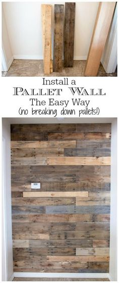 This pallet wall is gorgeous! The tutorial is easy to follow and not a single pallet needed to be broken down to complete it!