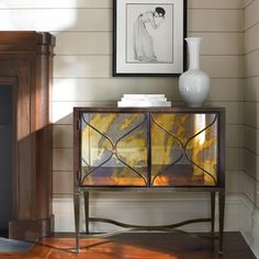 CARACOLE - SMOKE GETS IN MY EYES MIRRORED GLASS FRONT CABINET