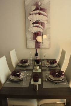 Dining table. love doing this !!