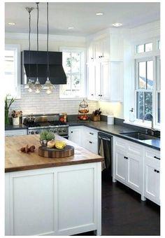 Black Quartz Kitchen Countertops, Dark Countertops, Dark Kitchen Cabinets, Oak Cabinets, Kitchen Counters, Kitchen Backsplash, Kitchen Sink, Kitchen Islands, Soapstone Kitchen