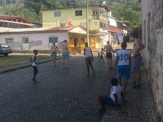 Football game between Germans Tourists and local tourists Portobelo, Colon - Costa Abajo, Panama