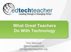 """Tom daccord's presentation on """"What The Best iPad Teachers Do"""" at EdTech Teacher IPad conference was terrific! There are some amazing teachers out there! #ipad #ettipad"""
