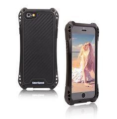 SmartSpeed® IPhone 6 Case Aluminum Metal Security Shell Shockproof Gorilla Glass Dustproof Water Resistant (Limited waterproof) Armor Protection Cover for iPhone 6/6S (4.7 in) Black | Phone Covers.This is an awesome, amazing iphone cover for Girls,Guys and Teens. Comes with a cool protective covering for your iphone . This has an unique ,cool ,designer and creative look.