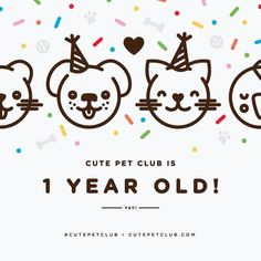 Happy 1st Birthday to our sister blog @CutePetClub! Its a cute animal party & youre invited. (Thank you for the birthday artwork @kathrynelone!) #COIxCPC [source: http://ift.tt/1pUtJve ]