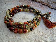 Bohemian Bracelet / Gypsy Bracelet / Boho / Multi by Stone Jewelry, Wire Jewelry, Jewelry Gifts, Beaded Jewelry, Jewelery, Jewelry Bracelets, Opal Jewelry, Gypsy Bracelet, Bohemian Bracelets