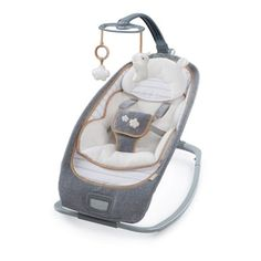 This is as chic and modern as a baby seat gets! This contemporary rocker has a one-of-a-kind recline option with three very distinct positions to keep baby a Toys R Us, Best Baby Bouncer, Bouncers, Baby Comforter, Baby Swings, Small Baby, Infant Activities, Family Activities, Baby Grows