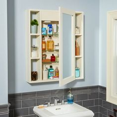Style and quality at a bargain price. This medicine cabinet is built from solid wood and quality hardware. It even has a hidden compartment!