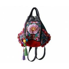 A0050 ROSE GREEN BOLSO mochila BOHO CHIC BACKPACK