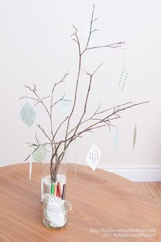 Make a gratitude tree and teach your children to be grateful for what they have.