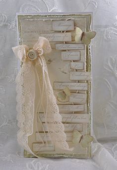 A wonderful wedding card by Mona using the Vintage Wedding collection