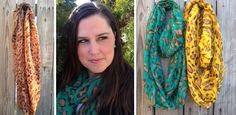 Spring Leopard Print Infinity Scarves in 4 Colors