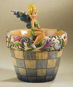Take a look at this Tinkerbell Garden Flower Pot by Jim Shore on #zulily today!