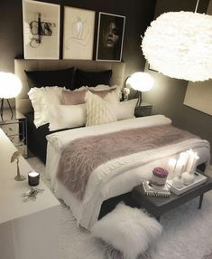Werbung/Advertisement ( Markennennung) Wish you all a nice evening. Girl Bedroom Designs, Room Ideas Bedroom, Home Decor Bedroom, Living Room Decor, Grey Bedroom Design, White Bedroom Decor, Glam Bedroom, Small Room Decor, Budget Bedroom
