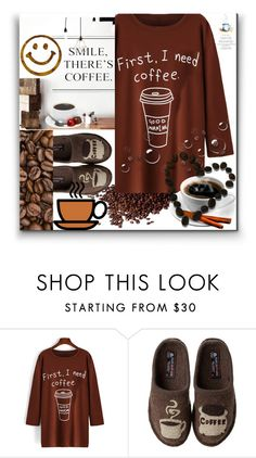 """""""COFFEE FIRST"""" by purplerose27 ❤ liked on Polyvore featuring Haflinger"""