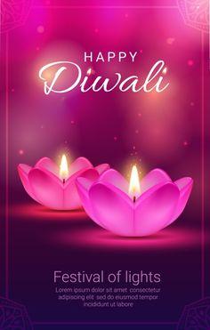 Indian Festival Of Lights, Indian Festivals, Festival Lights, Diwali Greeting Cards, Diwali Greetings, Diwali Vector, Diwali Pictures, Diya Lamp, Festivals