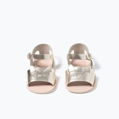 METALLIC LEATHER SANDALS-SHOES-MINI | 0-12 months-KIDS | ZARA United States