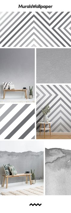 Grey wallpaper can easily become very dull and boring, but one way to spruce up . Hallway Wallpaper, Grey Wallpaper, Hallway Decorating, Interior Decorating, Elephant Room, Grey Hallway, Native American Decor, Indian Home Interior, Target Home Decor