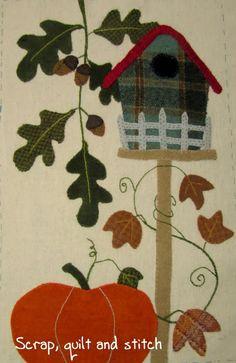 Scrap,quilt and stitch: Nichoir d'automne