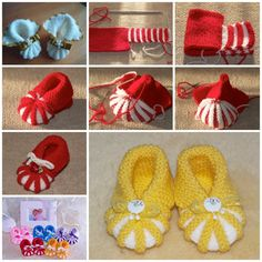 How adorable are these knitted baby booties ! They are great handmade gifts for baby . You can make a pom-pom ,butterfly, animal,beads,or flower toWonderful DIY Crochet Daisy Stitch Baby Booties with Free Patternknitted baby booties DIY F The Perfect DIY Baby Booties Knitting Pattern, Booties Crochet, Crochet Baby Shoes, Crochet Baby Booties, Baby Knitting Patterns, Baby Patterns, Free Knitting, Knitted Baby, Charity Knitting